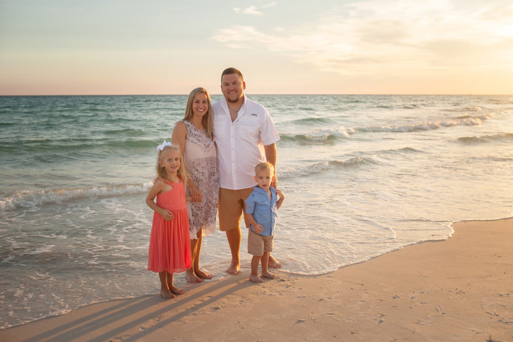Family Beach Sunset Photographer